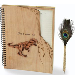Wooden Notebook & Peacock Pen for Sale in South San Francisco, CA