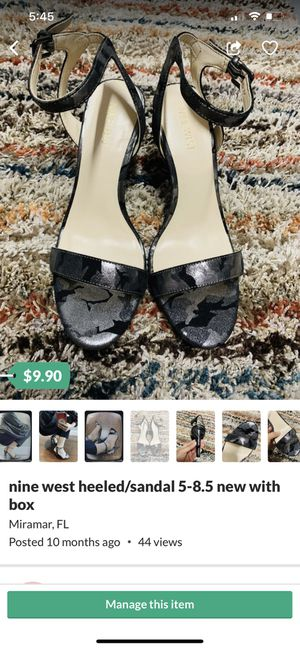 nine west heeled/sandal 5-8.5 new with box for Sale in Miramar, FL