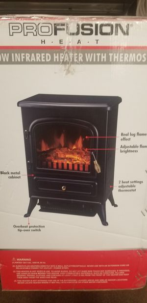1000watt Infrared Heater With Thermostat with Real Log Burning Effect for Sale in Portland, OR