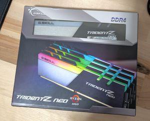 G.SKILL Trident Z Neo (for AMD Ryzen) Series 64GB (4x16GB) 288-Pin RGB DDR4 3600 for Sale in Lynnwood, WA