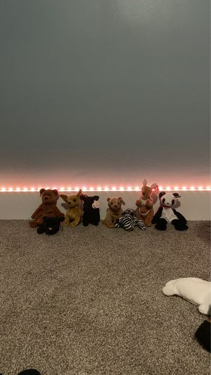 8 RARE beanie baby's all from 1990's. for Sale in West Bloomfield Township, MI