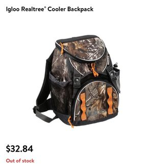 Igloo Camo Cooler Backpack for Sale in Houston, TX