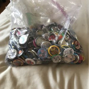 LOT Of 243 Button pins for Sale in Los Angeles, CA