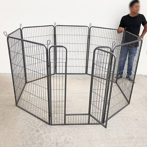 """(NEW) $125 Heavy Duty 48"""" Tall x 32"""" Wide x 8-Panel Pet Playpen Dog Crate Kennel Exercise Cage Fence for Sale in South El Monte, CA"""