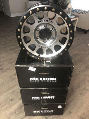 (4) 16x8 Method MR305 wheels for Sale in Crestview, FL