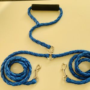 Dual Double Dog Leash Walking No Tangle Metal Coupler For 2 Pet Dogs for Sale in Covina, CA