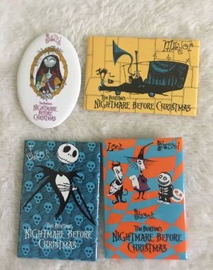 4 vintage Nightmare Before Christmas pin for Sale in Glendora, CA