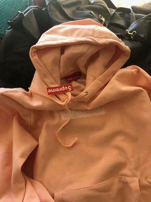 Supreme salmon pink box logo hoody medium for Sale in San Francisco, CA