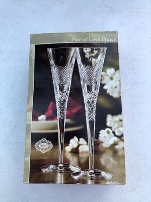 Lead Crystal Flute glasses 11 inch Set Of 2 for Sale in Manassas, VA