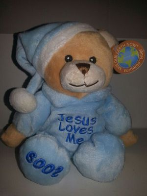 Jesus Loves Me 2009. stuffed bear for babies for Sale in Richardson, TX