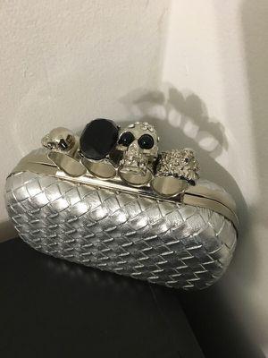 Silver Metallic Knuckle clutch for Sale in Crofton, MD