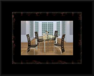 Glass dining table with 4 chairs for Sale in Fairfax, VA