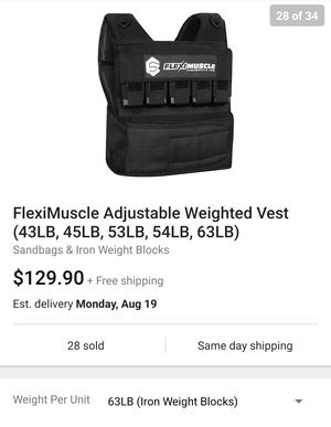 NEW 63lb Adjustable Weight Vest for Sale in Tacoma, WA