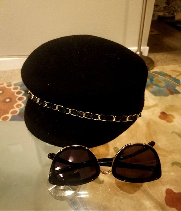 New hat and sunglasses included