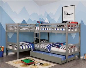 Quadruple Twin/Twin Bunk Bed New in Box for Sale in Margate, FL