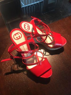 Gucci Eilin red platform cork sandals sz7.5 for Sale in Washington, DC