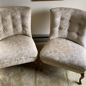 Vintage Armless Slipper Chairs w/ Antique Corner Chair for Sale in Charles Town, WV