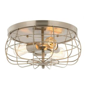 CO-Z 15 Inch Metal Cage Brushed Nickel Flush Mount Ceiling Light for Sale in Washington, DC