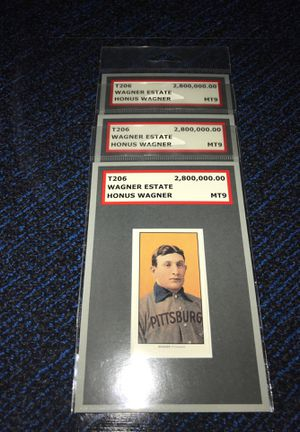 T206 Honus Wagner Uncirculated Mint Display for Sale in Cary, NC