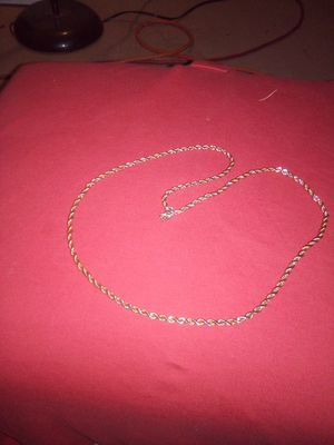 Awesome gold plated rope chain for Sale in Wichita, KS