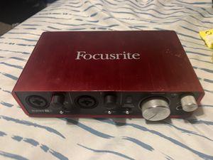 Focusrite scarlett 2i2 2nd gen for Sale in Washington, DC