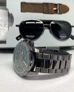 Vince Camuto 48mm Chronograph Stainless Steel Men's Watch and Sunglass Set for Sale in Allentown,  PA