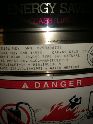 Montgomery Ward 50 gal gas water heater for Sale in Detroit, MI