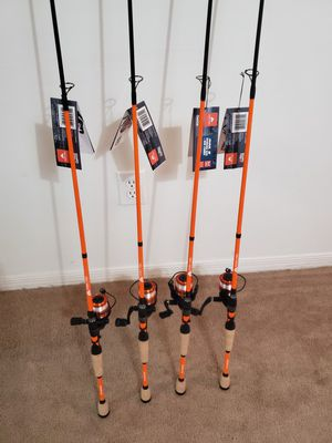 4 fishing rod and reel combo for Sale in Oakland Park, FL