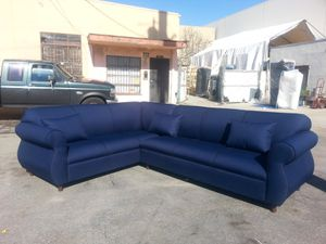 NEW 7X9FT DOMINO NAVY FABRIC COMBO SECTIONAL COUCHES for Sale in Corona, CA