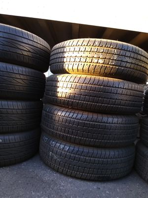 #5/ selling 4 used trailer tires size 205 75 14 all 4 for $100 free installation for Sale in Phoenix, AZ
