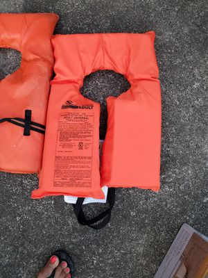 Universal adult life jackets. for Sale in US