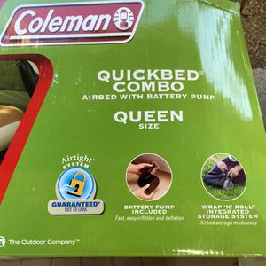 Coleman quick Bed Combo Air Mattress With Pump for Sale in Tujunga, CA