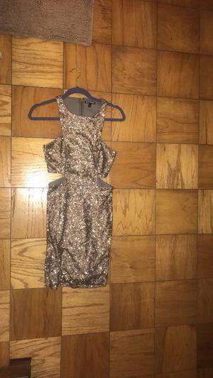Express gold shimmer dress for Sale in Alexandria, VA