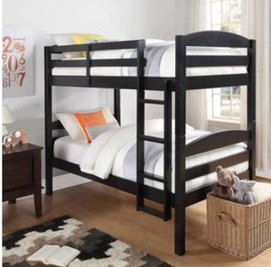 Black wood bunk beds like new mattresses not included for Sale in San Diego, CA