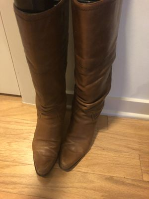 Westernish leathers slouchy boot size 7 for Sale in Austin, TX