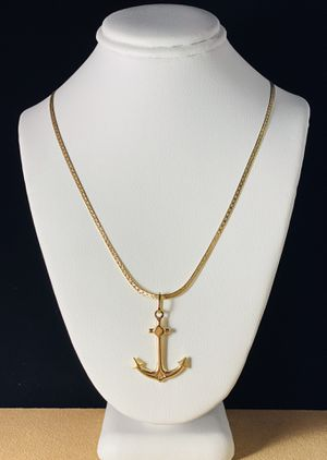 18K Solid Gold Anchor Necklace for Sale in Austin, TX