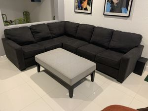 Sectional Couch and Ottoman for Sale in Miami, FL