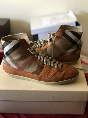 Authentic Burberry sneaker Size 12 for Sale in Detroit, MI