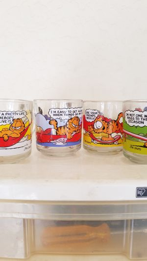 Set of 4 Garfield Collectible glasses for Sale in Mesa, AZ