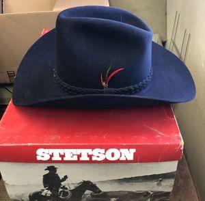 RARE Vintage Navy Blue STETSON Cowboy Hat for Sale in Fresno, CA