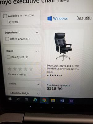 Beautyrest Royo big and tall executive office chair for Sale in Penbrook, PA