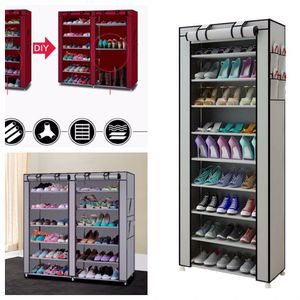NEW Shoe Rack Shelf Storage Organizer Closet in Red, Brown, Grey, Black with Cover Cabinet Space Saver Shoe Wall Boots, Heels, Running Shoes Cleaner for Sale in Jurupa Valley, CA