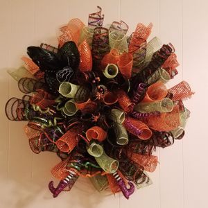 Halloween Witch Wreath Spiral Deco Mesh for Sale in Great Falls, VA