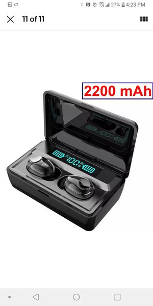 Wireless earbuds with power bank and 3 ft cord to charge for Sale in Pinellas Park, FL