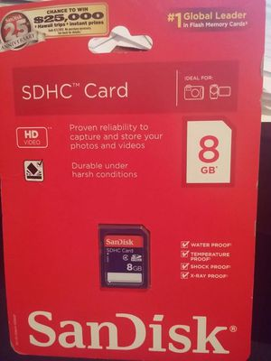 SDHC memory card 8 gig for Sale in Apex, NC