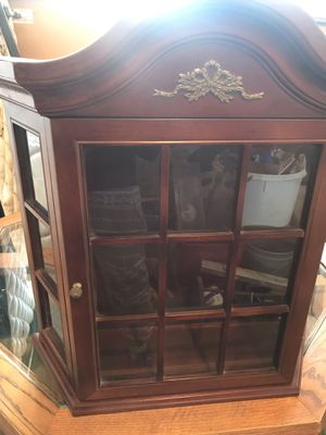 Antique wooden glass cabinet for Sale in Denver, CO