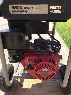 Porter Cable 6500 watt generator for Sale in Zephyrhills, FL