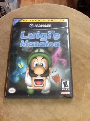 GAMECUBE LUIGI'S MANSION LUIGI MANSION LUIGIS MANSION COMPLETE WITH CASE AND MANUAL for Sale in Kissimmee, FL