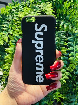 Brand new cool iphone 6, 6s REGULAR case cover slim fit hard sleeve case light weight matte black supreme mens guys hypebeast hypebae womens girls hy for Sale in San Bernardino, CA