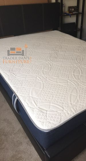 Brand New Queen Size Leather Platform Bed + Memory Foam Mattress for Sale in Silver Spring, MD